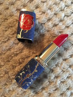 L'Oreal Beauty And The Beast The Enchanted Rose Lipstick LIMITED EDITION | eBay Gilmore Girls Tattoo, Rose Lipstick, Enchanted Rose, My Makeup Collection, Lip Makeup, Loreal, Makeup Products, Beauty And The Beast, Girl Tattoos