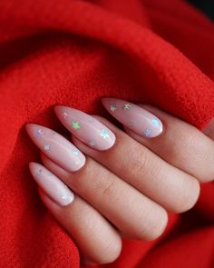 Flare nails and gorgeous nails. Cute Pink Nails, Pink Glitter Nails, Fun Nails, Almond Nails Pink, Bio Gel Nails, Acrylic Nails Pastel, Pastel Pink Nails, Long Almond Nails, Nail Pink