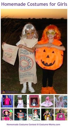 Homemade Costumes for Girls - a huge gallery of DIY Halloween costumes!