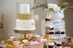 Blush and gold wedding reception - Blushing Bride: A Dramatic Photo Shoot in Lafayette | WeddingDay Magazine