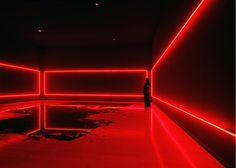 Phantom Studies (2008) MAC Musée d'art contemporain Lyon Exhibition view Salle 1: Ghost Rider (2008), Neonlight & black glass Courtesy MAC Lyon