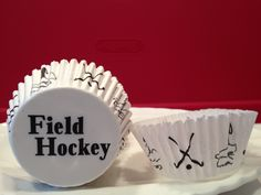 Field Hockey Cupcake Liners Like Lacrosse, there aren't many baking items on the market for Field Hockey. These Field Hockey cupcake liners are perfect for celebrating your daughter's Field Hockey success and/or end of the season celebration. Field Hockey Goalie, Hockey Drills, Hockey Party, Sports Party, Lacrosse Cupcakes, Baking Items, Hockey Gifts, Themed Cupcakes, Cupcake Liners