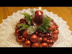 Jana Melas Pullmannová: Venček z vianočných gúľ Christmas Wreaths, Christmas Tree, Table Decorations, Holiday Decor, Youtube, Home Decor, Camera Phone, Easy, Xmas