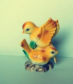 Vintage figurine with two birds from Germany