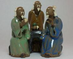 Chinese Mud Men Miniature Shiwan Statue