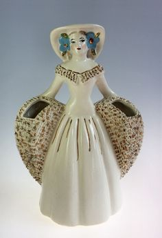 Mid-Century Art Pottery Figural Woman by WeStartedWithAMouse #TSUSPHQ
