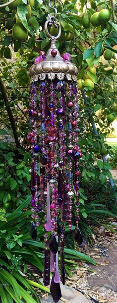 Winterberry Crystal Windchime...Yummy shades of by MsJoJangle