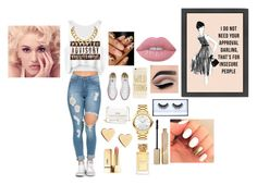 """""""cute r nahh"""" by tanae-523 ❤ liked on Polyvore featuring Converse, Movado, Lipsy, House of Harlow 1960, Tory Burch, Lime Crime, Huda Beauty, Stila and Sonix"""