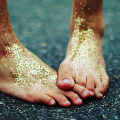 Fairy dust. Take a walk in your garden....barefoot.