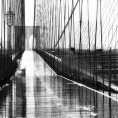 realityayslum: Oleg Moiseyenko Brooklyn Bridge Rain, NYC, 2010