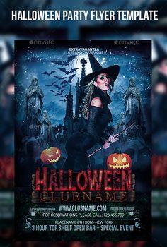 Halloween Horror Party Flyer Template PSD #design Download: http://graphicriver.net/item/halloween-horror-party-flyer-template/13135895?ref=ksioks