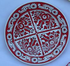 romanian Ceramic Plates, Ceramic Pottery, Ceramic Art, Decorative Plates, Contemporary Decorative Art, Naive Art, Hungary, Handicraft, Wood Art
