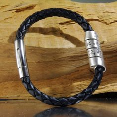 Love this from CustomMade, nice take on a custom ID / special date bracelet for men.