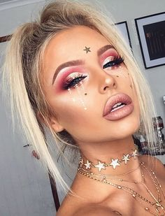 Image result for glitter festival makeup