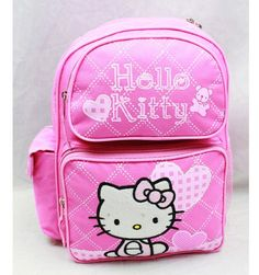 Small Pink Hello Kitty Backpack with Hearts- Small Hello Kitty School Bags * Check out the image by visiting the link. (This is an Amazon Affiliate link and I receive a commission for the sales)