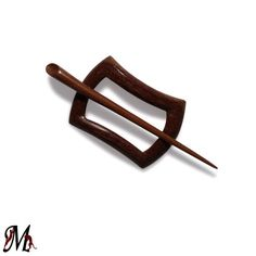Hair slider Barrette Wooden Shawl Pin Teak by mariya4woodcarving, $20.00