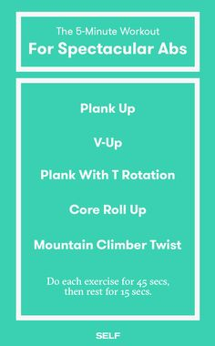 A 5-Minutes Abs Workout
