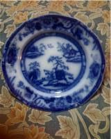 "Antique FLOW BLUE ""CHAPOO"" 7"" Stone China Plate"