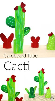What a wonderful kids activity. Use up all those toilet rolls and cardboard tubes! #cacti #cactuscraft #toiletrollcactus #toiletrollcacti #cardboardtubecacti #kidsactivities #summeractitivies #kidsfuncactuscrafts #recycledtoiletrollcrafts #recycledcrafts Preschool Art Lessons, Kindergarten Art Activities, Art Activities For Toddlers, Preschool Crafts, Easy Toddler Crafts, Valentine's Day Crafts For Kids, Craft Projects For Kids, Art For Kids, Art Projects