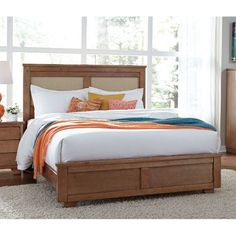 Dune Pine Casual Contemporary Queen Upholstered Bed - Diego
