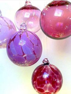 hängelampe kugel glaskugel lampen deckenlampen lila rosa