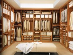 Contemporary Closet with California closets custom dressing room, Carpet, High ceiling, Whiteline imports miami bench Wardrobe Room, Closet Bedroom, Walk In Closet Design, Closet Designs, California Closets Cost, Big Closets, Modern Closet, Custom Closets, Space Saving Furniture