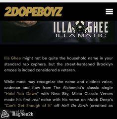 "@Regrann from @illaghee2k -  Go download my Mixtape ""ILLA MATIC"" on Bandcamp.com .. I'm always working.. #illaghee #illagheetv #2dopeboyz #underground #Brooklyn #hiphop #working #music #bully #rap #hardwork #lit #Regrann #MMV"
