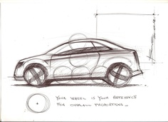How to draw a car sketch in side view | Car Design Education Tips