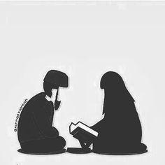 In shaa Allah,dibimbing, kutunggu imam itu; Image Couple, Cute Couple Art, Couple Dps, Islam Muslim, Muslim Women, Cute Muslim Couples, Cute Couples, Baby Hijab, Hijab Drawing