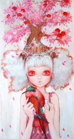 Apple Tree Queen by Camilla D'errico pop surrealism art Art Beat, Manga Comics, Betty Boop, Camilla, Reine Art, Pop Art, Miranda July, Queen Art, Lowbrow Art