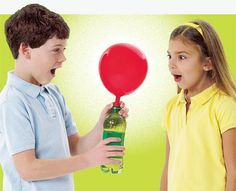 Blow up a balloon with soda like we did during our Soda Pop Science event.