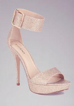 Bebe-Jill Glitter Mesh Ankle Sandals....129.00