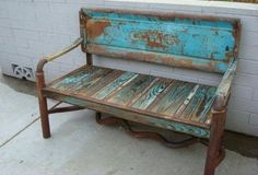 nifty old bench. | #repurposed