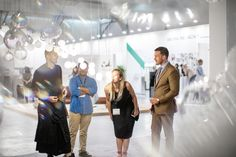 Enjoying the interactive experience Breath of Light brings at Dubai Design Week 2018 - a new and effervescent crystal lighting design. Dubai Design Week, Creative Hub, Light Installation, New Details, Lighting Design, Celebration, Bubbles, Design Inspiration, Crystal