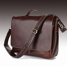 "Handmade Leather Briefcase / Leather Messenger Bag / 13"" 15"" MacBook 13"" 14"" 15"" Laptop Bag - n78"