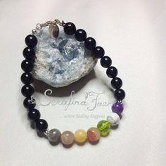 Tranquility Stress Chakra Bracelet for Him Crystal Healing Spiritual Jewelry Reiki Jewelry Healing Jewelry Reiki Gift for Him Chakra Jewelry
