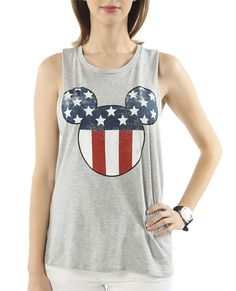 Mickey Americana Tank - Wet Seal $17.90