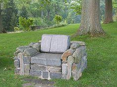 Rock seating.