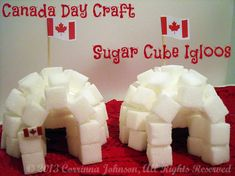 Canada Day Craft: Sugar Cube Igloos #Canada #crafts