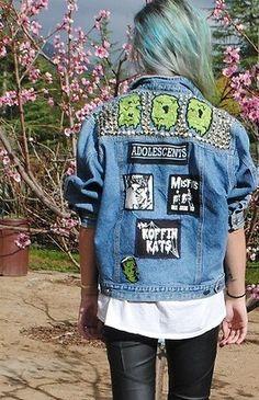 PUNK DENIM JACKET,grunge denim jacket,denim jacket,blue jean jacket,hippie jacket,hipster jacket,punk jacket,minimalist jacket,goth jacket