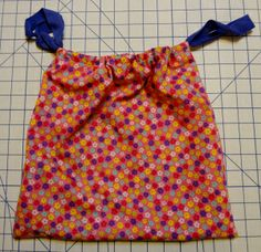 Adventures of a Beginner Sewer- Super Easy Drawstring Bag Tutorial