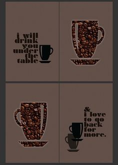 Gift for my mom!!   #coffee #print #diy #quadtych #gift #graphic art