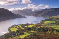 size: Photographic Print: Ullswater from Gowbarrow Fell, Lake District National Park, Cumbria, England. Autumn by Adam Burton : Yosemite National Park, National Parks, Autumn Lake, Beach Landscape, Ways Of Seeing, English Countryside, Cumbria, Lake District, Poster Prints