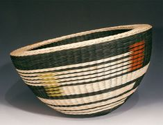 """High Meadows"" a double-walled basket commissioned by the Fuller Craft Museum in Brockton, MA  2010 (by me, Kari Lønning)"