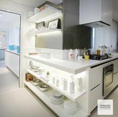 Cozinha  por Fernanda Marques #kitchen #homedecor #decoração #apartamentopequeno #loft