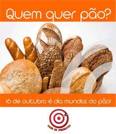 Dia 16 de outubro é o dia mundial do pão.