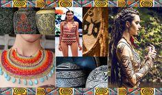 Painel inspirado na cultura Indígena Brasileira.