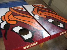hokie bird cornhole