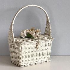 All the sweet things  40's Ritter wicker basket purse just listed  #vintagebag #wickerbag #wickerbasket #40sfashion #basketpurse #vintagewickerpurse #summerhandbag #vintagebride #etsyvintage #truevintage