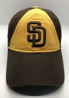 online store 9558e 13cff Details about MLB San Diego Padres Cap Hat Men Fitted Small New Era 49Forty  Brown Yellow